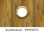 Постер, плакат: Ship porthole hole