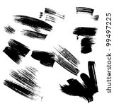 set of grunge vector pen | Shutterstock .eps vector #99497225