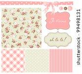 vintage rose pattern  frames... | Shutterstock .eps vector #99498131