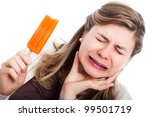 young woman with hypersensitive ...   Shutterstock . vector #99501719