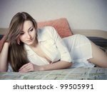 sexy and beautiful girl in... | Shutterstock . vector #99505991