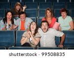 group of seven scared people... | Shutterstock . vector #99508835
