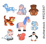 set of vector children's toys | Shutterstock .eps vector #99525347