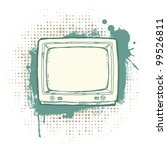old  tv design | Shutterstock .eps vector #99526811