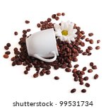 espresso cup   coffee beans and ... | Shutterstock . vector #99531734