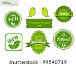 eco and organic labels set | Shutterstock .eps vector #99540719