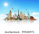 travel the world monuments... | Shutterstock . vector #99540971