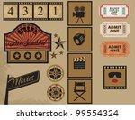 Vintage Cinema Labels  Marquee  ...
