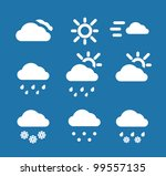 weather conditon icons... | Shutterstock .eps vector #99557135