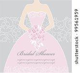 wedding dress doodle for...   Shutterstock .eps vector #99561959