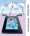 cloud computing concept. a... | Shutterstock .eps vector #99562409