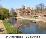 Punting On Cam River In Spring
