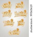 vector set   label design... | Shutterstock .eps vector #99565619