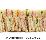 A Selection Of Sandwiches With...