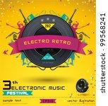 music concept  retro poster... | Shutterstock .eps vector #99568241