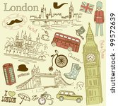 london doodles | Shutterstock .eps vector #99572639