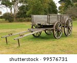 Old Horse Drawn Wooden Cart On...