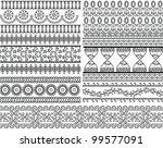 very detail henna art inspired... | Shutterstock .eps vector #99577091