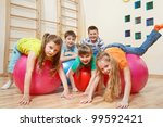 five kids playing with... | Shutterstock . vector #99592421