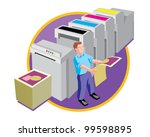 printer at work design and...   Shutterstock .eps vector #99598895
