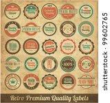 retro premium quality labels | Shutterstock .eps vector #99602765