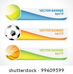 set of sport banners | Shutterstock .eps vector #99609599