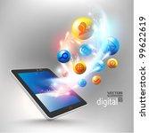 conceptual social networking... | Shutterstock .eps vector #99622619