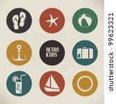 vector summer poster made from... | Shutterstock .eps vector #99623321