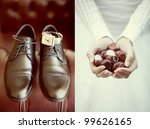 wedding collage  ring in the... | Shutterstock . vector #99626165
