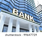 building and sign bank  done in ... | Shutterstock . vector #99647729