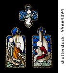 religious stained glass windows ... | Shutterstock . vector #99664394