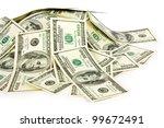 dollars on white background | Shutterstock . vector #99672491