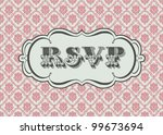 vector ornate rsvp frame and... | Shutterstock .eps vector #99673694