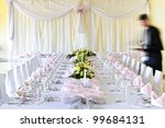 officially prepared a table... | Shutterstock . vector #99684131