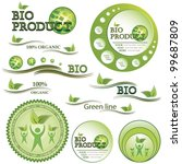 set of green bio and organic... | Shutterstock .eps vector #99687809