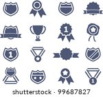awards lables icons set  vector | Shutterstock .eps vector #99687827