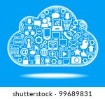 social network  communication... | Shutterstock .eps vector #99689831