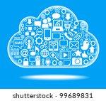 social network  communication... | Shutterstock .eps vector #99689831