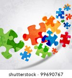 Stock vector abstract puzzle shape colorful vector design 99690767