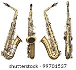 four angles of a classical alto ...   Shutterstock . vector #99701537