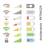 mobile phone system icons | Shutterstock .eps vector #99704129