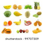 large page of fruits isolated... | Shutterstock . vector #99707309
