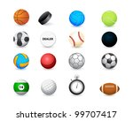 icon of sports balls and... | Shutterstock .eps vector #99707417