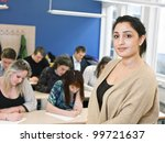 schoolteacher in front of... | Shutterstock . vector #99721637