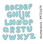 cute childlike alphabet. vector ... | Shutterstock .eps vector #99721679