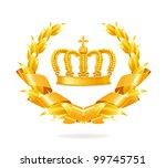 vintage emblem  gold | Shutterstock .eps vector #99745751