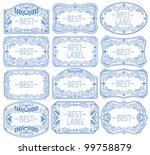 vintage labels set  vector | Shutterstock .eps vector #99758879