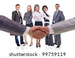 handshake isolated on business... | Shutterstock . vector #99759119