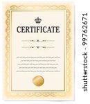 certificate vector | Shutterstock .eps vector #99762671