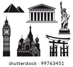 icons of sights of the... | Shutterstock .eps vector #99763451
